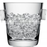 Blown manufacture Clear transparent Krosno Glass Wine Cooler ice bucket with handle crystal home and bar decor favor