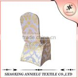 White unique with printed Factory wholesale for weddings chair cover stretch foil print damask