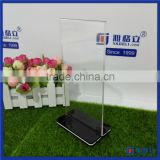 Custom fashionable clear acrylic menu table stand / customized size for acrylic memu holder