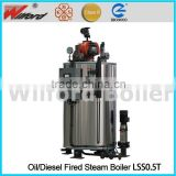 500kg Fuel Gas Steam Boiler for Glass Bottle Washing Machine