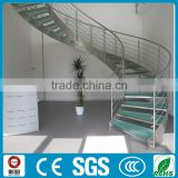 indoor used metal stairs glass stairs