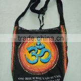 om ethnic indian bags printed