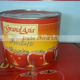 Top Quality Pure Tomato Paste in can with stick paper label in 400g, 2.2kg, 800g, 850g & 3kg