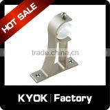 KYOK wholesale wall mount single curtain rail bracket,factory double stainless steel 22mm/19mm curtain rod bracket