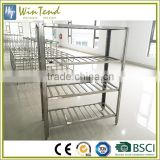 Kitchen vegetable storage rack commercial, adjustable tube stainless steel kitchen shelves