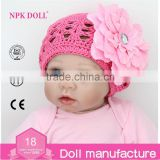 Hot selling NPK DOLL Silicon Reborn Babies Doll Magnetic Nipple Soft 22 inch Newborn Lifelike Dolls Pink                                                                         Quality Choice