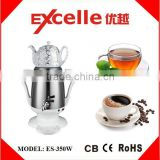 1800W CE approval hot sale s/s electric Iranian samovar Turkish tea maker with ceramic teapot