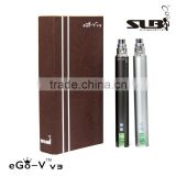 SLB ego-v v3 mega,1300mah LCD 3-6v variable voltage ecig battery,3-15w variable watt battery with atomizer ohm meter