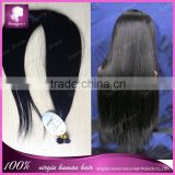 Popular Braziian virgin human hair i tip hair extensions wholesale 8-30' straight hair bundles in stock