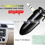 Car FM transmitter for any smart phone and pads