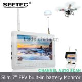 7 inch slim lcd monitor built-in integrated lipo battery used as wireless camera security system dji lightbridge