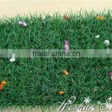 Plastic grass artificial boxwood turf with flowers milan grass mat for football flooring decor
