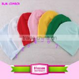 Yiwu Fashion Cute Customize 100% Cotton Solid Color Fall Winter Baby Kids Cheap Plain Beanies Child Boy Girl Multicolor Hats