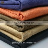 Polyester knitted cheap suede fabric,stretch suede fabric for garment,elastic suede fabric