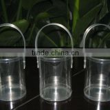 clear plastic bucket with lids