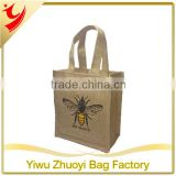 Healthy custom printed Hemp bee honey Jute packing Bag