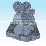SKY-M19 Double Heart Design One Piece Angel Monument Tombstone Headstone Gravestone