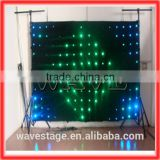 HOT WLK-1P18 Black fireproof Velvet cloth RGB 3 in 1 led curtain backdrop rgb led display flexible led screen