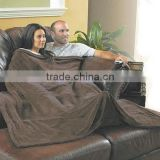 double size couple TV snuggle blanket