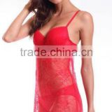 Beautiful Red Mature Women Sexy Lingerie (CSL11012)