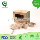 Wholesale Children's Biodegradable bamboo Tableware set                                                                         Quality Choice