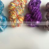 custom dyed banana silk yarns made in single solid colours as well as multi colours