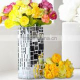 Creative Mosaic Craft Glass Mirror Mosaic Vase For Home Decoration