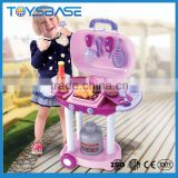 Easy assemble barbecue kids kitchen toy set cooking games for girls