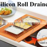 silicone utensils kitchen sink with dish roll drainers sink strainer kitchenware accessories silicone roll mat