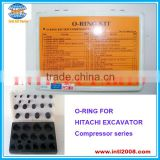 Auto air conditioning compressor O-RINGS used for HITACHI EXCAVATOR compressor series