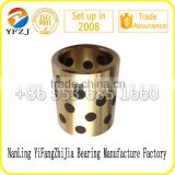 Industrial self lubricanting graphite insert brass bush / graphite copper sleeve/solid mosaic bearing