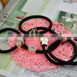 Fashion Women Cute Black Elastic Hair Bands Girl Hairband Hair Rope Gum Rubber