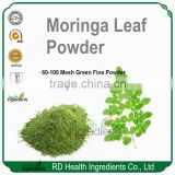 Bulk Free Sample GMP factory supplier Moringa Oleifera Leaf Powder, Organic Moringa Powder
