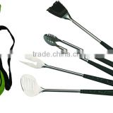 4 Piece BBQ Tools in Black Golf Bag and Golf Grips