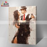 Wall hanging painting and famous sexy dance gril diy oil painting by numbers on canvas for decor home in china yiwu factory