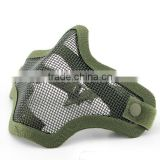 Best price Green Wholesale Hunting Single Belt Fast Helmet Adaptable Strike Steel Mesh half face Mask