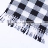 New Mens Warm Soft Cashmere Imitation Wool Plaid Tartan Scarf Checked Scarf Olive