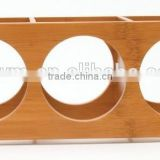 Custom Attractive Design Simple Elegant Storage Bamboo Wooden Stackable Wine Rack Holder Display