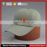 Hi quality Custom 6-panel Cotton twill Baseball Cap with PU badge