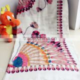 Beautiful peacock printing wholesale pashmina scarf/shawl
