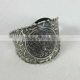 Costume Fashion Women Jewelry India Brass Ring Emosed Hair Band Latest Design New Pattern,Indian Regional,Silver Finish,Antique