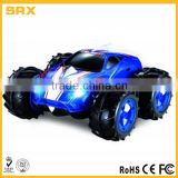 Factory OEM PLASTIC material Amphibious Remote Control Car 360 Degree Spins with LED Headlights
