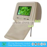 Car headrest dvd monitor with stable quality., 7 inch tft lcd dvd monitor car monitor XY-7051DVD