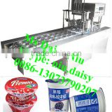 automatic milk cup filling machine/jelly cup sealing machine/plastic cup filling and sealing machine