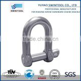 SGS certificated steel bolt chain shackle