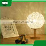 wooden decorative Garden Cane twine eye protection usb rechargeable dimmable led study reading desk table night light lamp