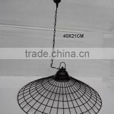 Iron Ceiling Hanging Lamps in green powder coating