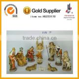 Wholesale Polyresin 11pieces Wooden Christmas Nativity Set