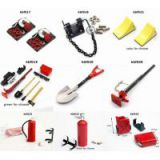 rc diy accessory Winch Hook /  Adjustable Drop Hitch / Wheel Chocks / Metal Shovel / Fire Extinguisher /  High-Lift Trali Jack