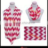 jersey knit Great Gift nursing scarf Knit Circle scarf nursing infinity scarf with chevron pattern